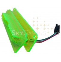 Bezel Short Angled Flag Yellow w-Led Board PN 130-00009-100